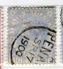 MALAYA STRAITS SETTLEMENTS;   1892 early QV issue used 8c. value