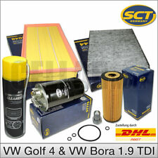 VW Golf 4 & Bora 1.9 TDI | Inspektionspaket Filterset Filterkit + Klimareiniger