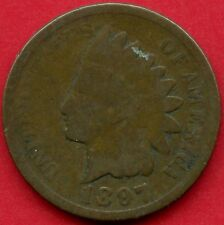 """United States 1897 """" Indian Head """" 1 Cent Coin"""