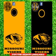 Missouri Tigers Corn hole Set of 6 Vinyl Decal Stickers Mizzou cornhole decals