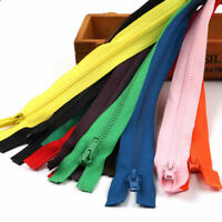 Multi Color Chunky Nylon Coil Zippers Open Ended Zip Plastic Teeth 55/60/65/75cm