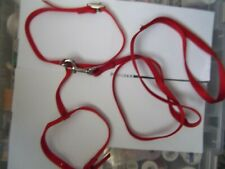 Pet harness & lead Red for small dog/puppy or cat