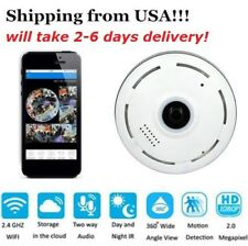USA! 360º Mini WIFI Panoramic IP Camera Wireless Home Security 1080P HD Night
