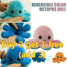 UK Octopus Doll Emotional Face Changing double-sided Flip Octopus Plush Toy Doll