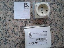 Berker Modul 2 Schuko-Steckdose nit FI-Schutzschalter neu cremeweiß = weiß glänz