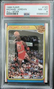 1988-89 Fleer Basketball Michael Jordan PSA 8 3rd Year Card GOAT! #120 All-Star