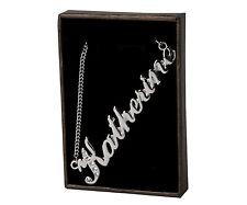"""COLLANA con nome """"Katherine"""" - 18ct Bianco Oro Placcato-realizzati con elementi swarovski"""