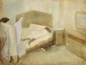 Jose Clemente Orozco The Bedroom Poster Reproduction Giclee Canvas Print