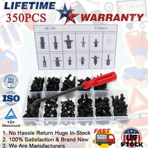 350X Car Body Plastic Push Pin Clips Fender Bumper Fasteners Rivet Screwdriver