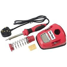 Soldering Iron Kit Mains Powered 30W Solder Pump With Stand Spare Tip & Wire