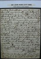 s2087) Sir John Ross Autograph - Brief datiert 24.8.1802