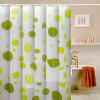 100% Polyester Fabric Modern Designer Washable Shower Curtain 12 Hooks 180x180cm