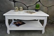 Couchtisch Wohnzimmertisch 90 x 50 cm Landhaus Vintage barock Weiß LV4052