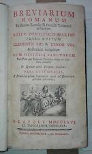 1766 - Breviarium Romanum. Pars Aestiva - Autumnalis - Hiemalis - Verna