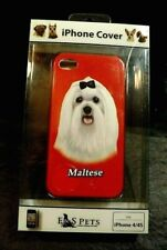 E&S PETS FEATURING MALTESE PINK IPHONE 4/4S HARD BACK PHONE COVER NEW IN BOX