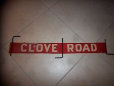 Nyc Bus Sign Staten Island Ny Clove Road Urban Transit Collectible Roll Sign Art