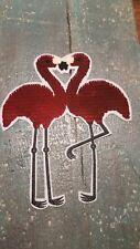 XL-Patch Flamingo Vogel golden rot mit Wendepailletten Applikation Bügelbild