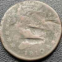 1810 Large Cent Classic Head One Cent 1c Circulated  #22620