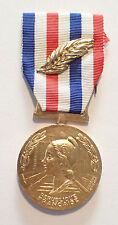 DECORATION - medaille HONNEUR CHEMINS DE FER BRONZE DORE PALME - GUIRAUD (5964J)