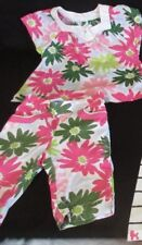 Toddler Girls Gymboree Outft Capri and Top Pink Green Flowered Spring  18-24M