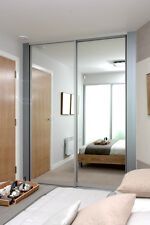 Made to Measure Aluminium Framed Mirrored Sliding Doors up to 2100 width
