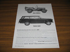 1963 Vintage Ad Jeep Wagoneer Family Station Wagon with Four Wheel Drive