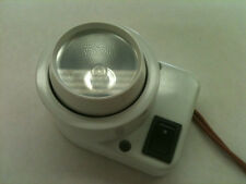 New, White Surface Mount  Eyeball Fixture with On/Off Switch, 12V, 10W