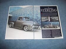 "1956 Ford F-100 RestoMod Article ""Polished Sterling"" F100"