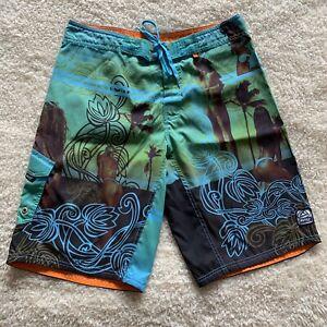 Reef Men Size 34 Board Shorts Brazilian Beach Colorful Unique