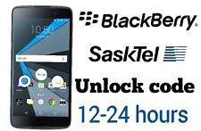 Unlock code Sasktel Blackberry Priv Classic DTek50 Z30 Z10 Passport
