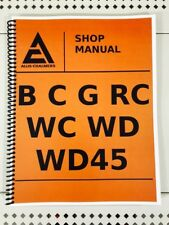 G Model Allis Chalmers Tractor Technical Service Shop Repair Manual