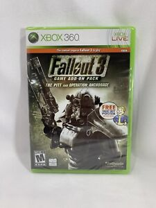 Fallout 3 Game Add-On Pack The Pitt and Operation Anchorage Xbox 360 FactorySeal