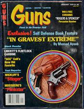 Magazine *GUNS* Jan, 1979 MOSSBERG Model 377 Plinkster .22 RIFLE, PARDUE Knives