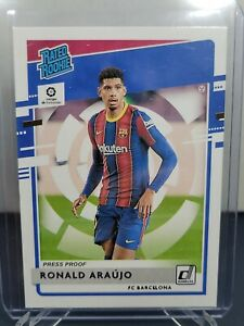 2020-21 Panini Chronicles RONALD ARAUJO Rated Rookie BLUE #13/99 - Barcelona