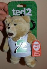"6"" Ted Talking Backpack Clip Teddy Bear 15 Phrases Explicit Language Red Rated R"
