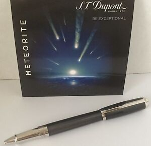 S.T. Dupont Elysee Rollerball Pen, Chinese Lacquer & Meteorite 412112 New In Box