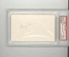 Larry Gardner auto autograph index card PSA DNA certified Boston Red Sox Indians