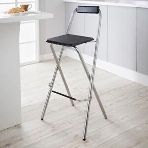 Folding Breakfast Bar-Stool High Chair Kitchen/Home Accessories Metal Legs
