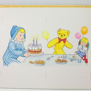 Andy Pandy & His Toy Box book illustration art painting original vintage #6