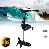 12V 45LBS Thrust Electric Outboard Trolling Motor Boat Engine Compact Kayak 480W