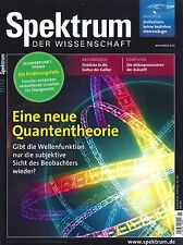 Spektrum der Wissenschaft, Heft November 11/2013: Neue Quantentheorie ++ wie neu