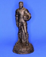 Handcrafted carved from Welsh coal - Rugby Player H: 14cm [20791]