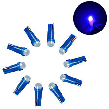 Blue Light 10pcs T5 5050 1 SMD Ceramic LED Dashboard Bulbs Car Interior Lamps