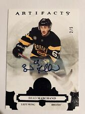 Brad Marchand 2017-18 Artifacts Hockey Auto Black 2/5 Boston Bruins - 🏒