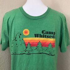 Vintage Camp Whitsett Graphic BSA T-Shirt Sz L Kernville CA Boy Scout Camp Tee