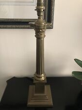 Laura Ashley Large Corinthian Brass Column-Style Lamp 48cm