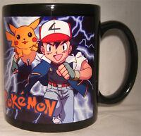 POKEMON Ash and Pikachu - Black Coffee MUG - CUP