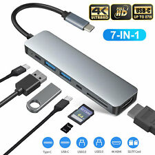 7 in 1 Multiport USB-C Hub Type C To USB 3.0 4K HDMI Adapter For Macbook Pro/Air