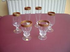 6 Gläser Theresienthal Mintonborde Kristall Glas Sektgläser Rotweingläser