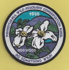 Pa Pennsylvania Fish Game Commission Related New 1998 Wrcf Dogwood Tree Patch